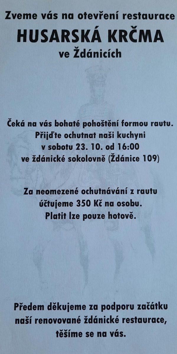 Plakát Husarská krčma